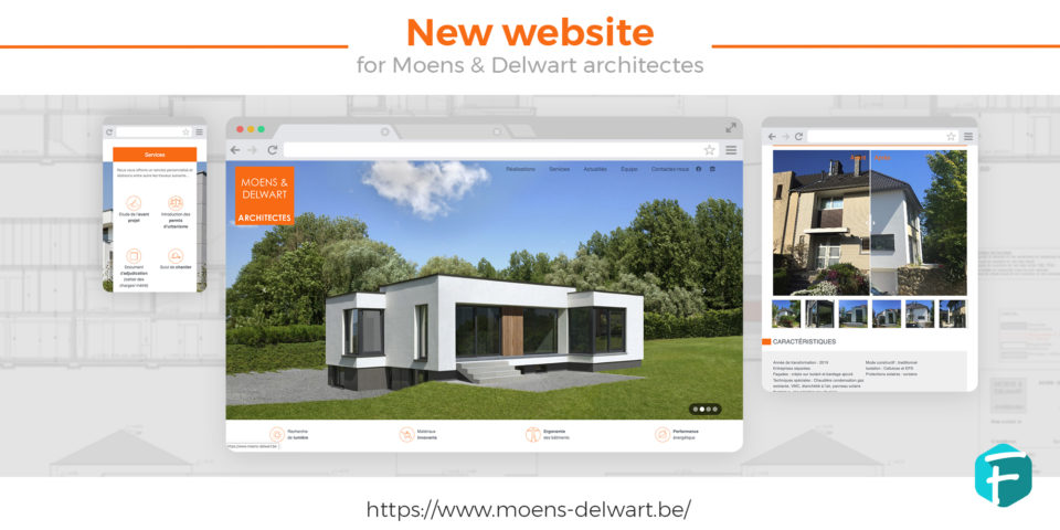 Design site internet architecte Moens&Delwart