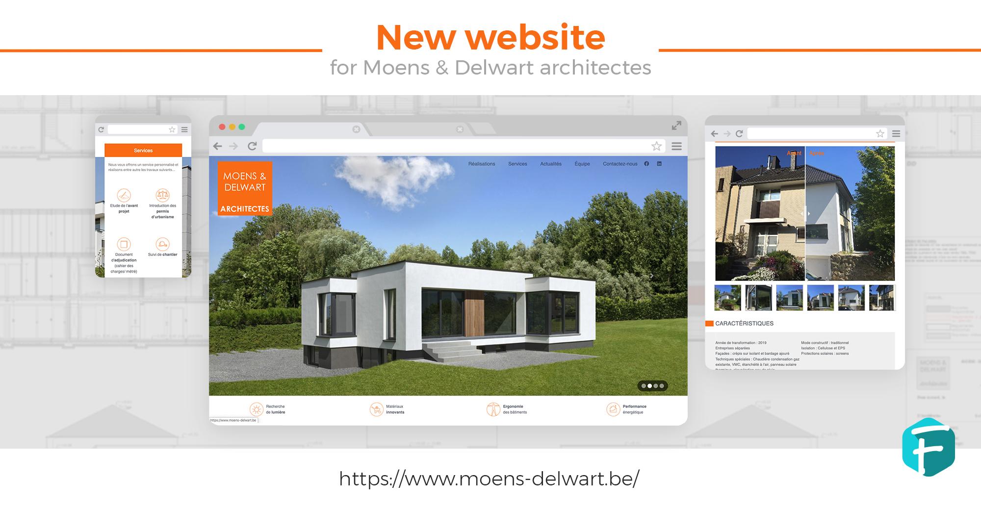 Design site internet architecte Moens&Delwart